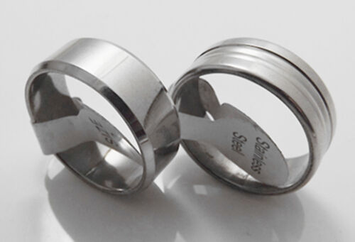 Wholesale 50 pcs NEW men women quality stainless steel Rings