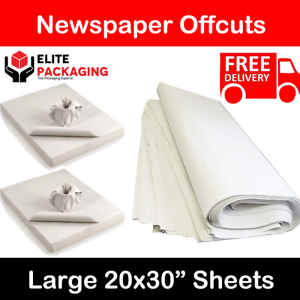 "White Packing Paper Chip Shop Paper Newspaper Offcuts Large 20 x 30/"" Sheets Food"