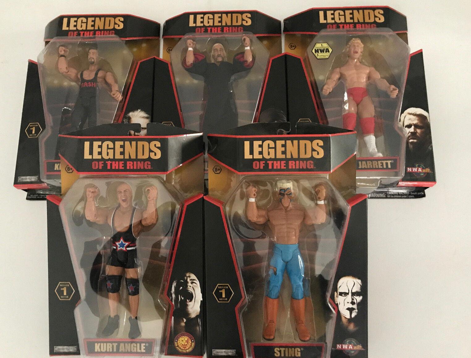 Legends Of The Ring,Hulk Hogan,Jeff Jarrett,Kurt Angle,Sting,Kevin Nash,Set