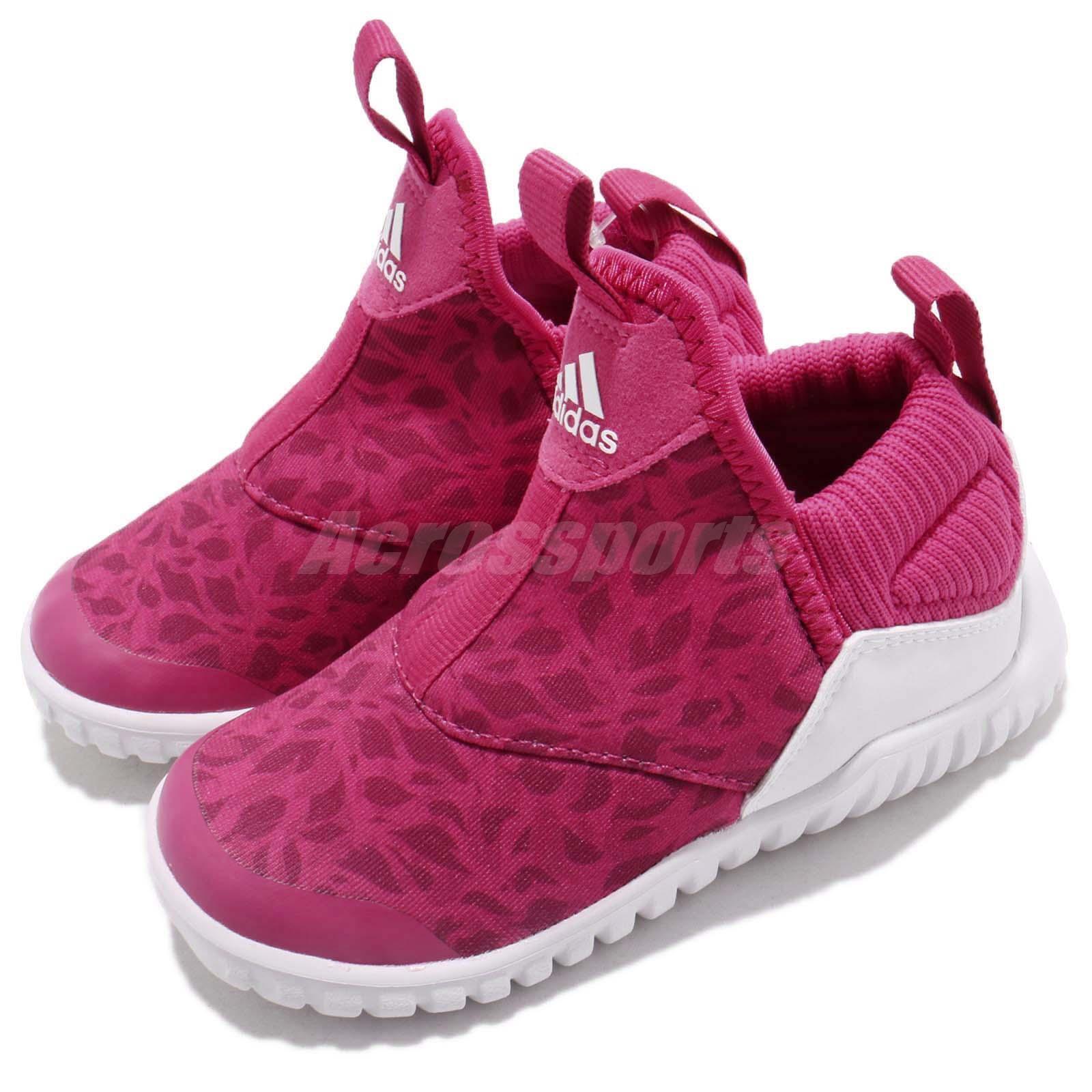 Adidas RapidaZen I Pink White TD Toddler Infant Baby Slip On shoes Sneaker B96350