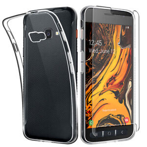 SDTEK-Case-for-Samsung-Galaxy-XCover-4s-Glass-Screen-Protector-Clear-Gel-Cover