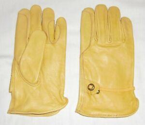 Busse 705301 Leder Arbeitshandschuhe// Leather Working Gloves gelb gefüttert