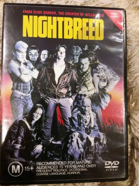 NIGHTBREED CRAIG SHEFFER CLIVE BARKER GENUINE REGION 4 DVD NIGHT BREED CULT HORR
