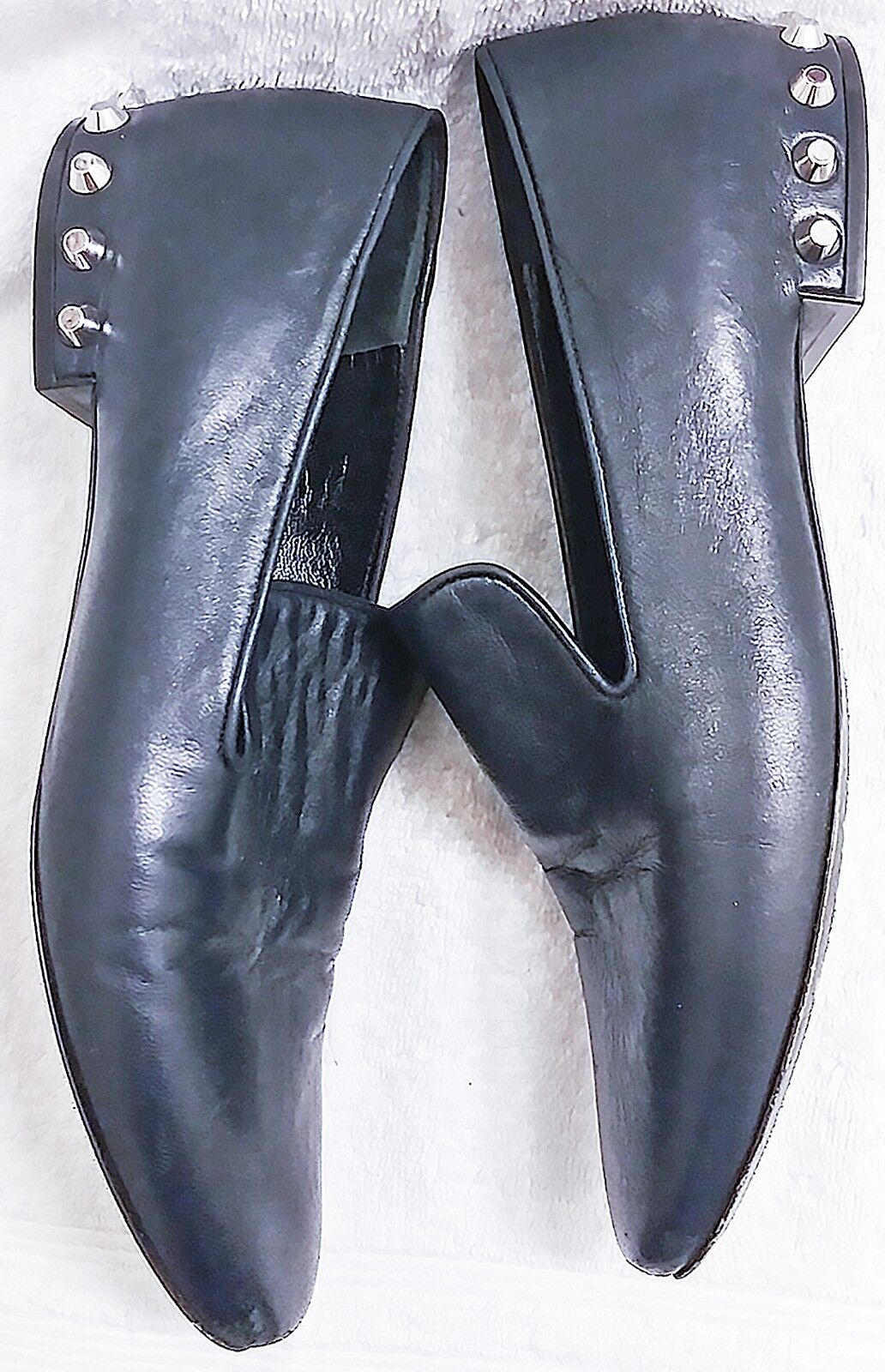 Balenciaga  Studded Heel Smoking Slipper Loafers Flats Women's Size Size Size 37.5 05ff1d