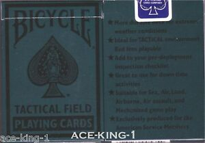 2-NEW-BICYCLE-535-TACTICAL-FIELD-PLAYING-CARDS