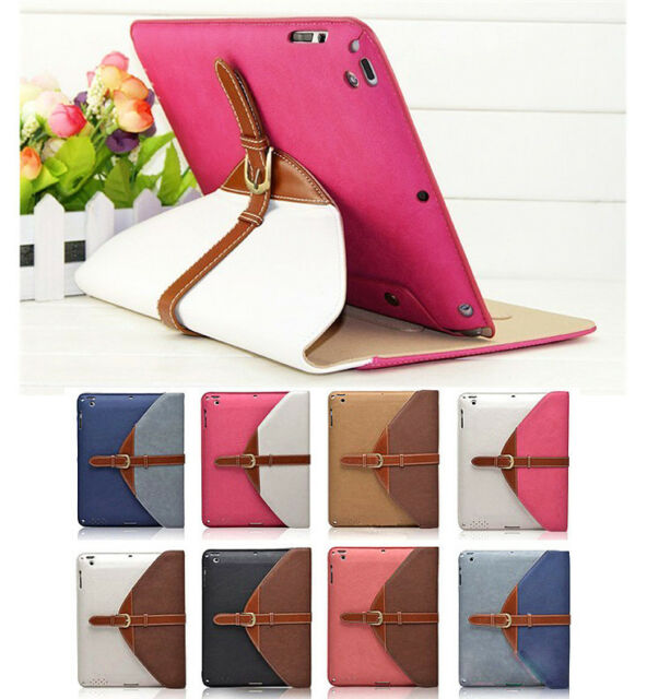 The new iPad 3/2/4 Rotating Magnetic Leather Case Smart Cover Wake/Sleep Stand