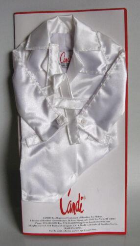 "lined Fits CANDI 16/"" Tyler Gene Ellowyne Alex NEW Doll Coat White Satin Trench"