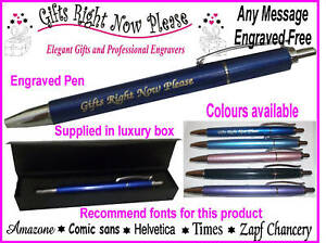 engraved personalised pen teacher thank you gift boxed ebay