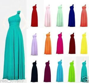 Chiffon-One-Shoulder-Evening-Formal-Party-Ball-Gown-Prom-Bridesmaid-Dress-6-16