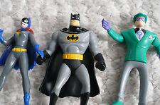 DC Comics McDonalds 1993 Batman, Riddler, Batgirl Series Animated Action Figures