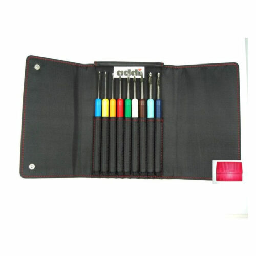 addi Colours Set 9 Häkelnadel Set mit Etui Colours Häkelnadeln 648-2 648-7