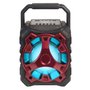 Totalmente-alimentado-Altavoz-Bluetooth-inalambrico-portatil-multimedia-500W-Blade-10-Rojo