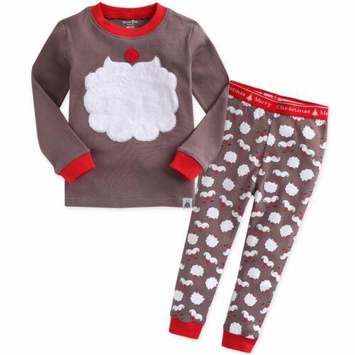 "Vaenait Baby Kids Boys Girls Clothes Pajama Set /""Winter Santa Rudolph/"" 12M-7T"