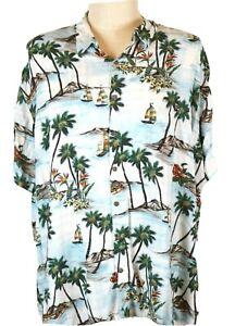 Batik-Bay-Men-039-s-4X-B-Hawaiian-Shirt-Sailboats-Islands-Florals-Lobsters
