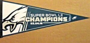 2018-PHILADELPHIA-EAGLES-Super-Bowl-LII-52-Champions-Pennant-U-S-A-Made-NEW