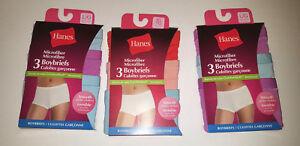8c076d61895 Image is loading Hanes-Microfiber-Boyshorts-womans-panties-3-Pack-Sizes-