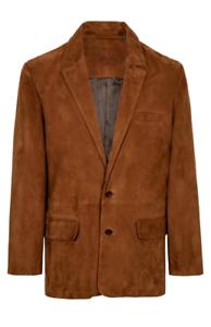 Men's Brown Suede Blazer