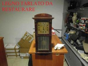 TARLATO-RA-RESTAURARE-ANTICO-OROLOGIO-A-PENDOLO-MECCANISMO-FUNZIONANTE-55X25X12