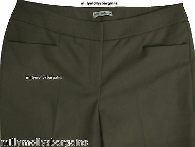 New Womens Marks & Spencer Autograph Brown Trousers 16 14 12 10