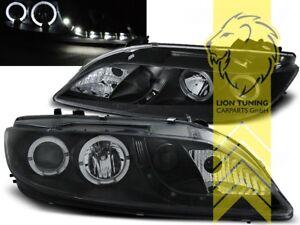 LED-Tagfahrlicht-Optik-Scheinwerfer-fuer-Mazda-6-Angel-Eyes-schwarz