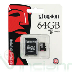 Scheda-MicroSD-originale-KINGSTON-64GB-Hd-classe-10-per-Galaxy-Tab-3-7-0-T210