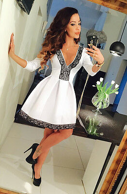 Fashion Womens Formal Dress Prom Party Evening Cocktail Midi Lace Floral Dresses