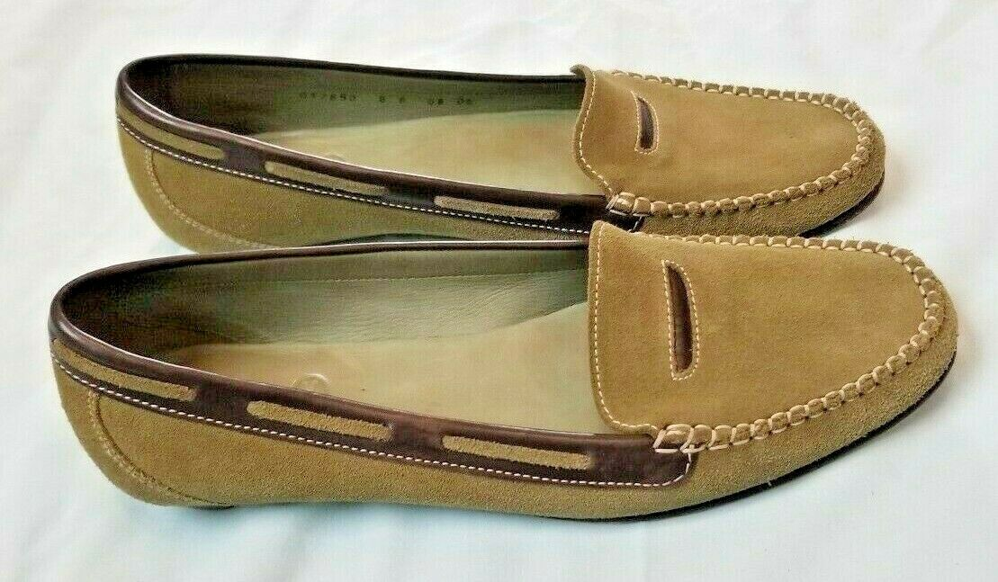 Colehaan slipon W. shoe Made In India Green Brown Leather Excel. Used condition