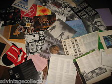 60-70s Rock ONLY Record INSERT 81 Lot Pink Floyd Beatles Maiden Rolling Stone
