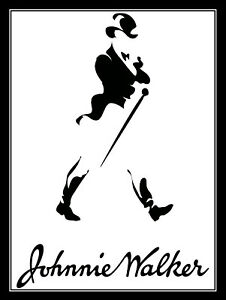 Novelty Gift Retro Metal Plaque//Sign Bar Johnnie Walker Man Cave Pub