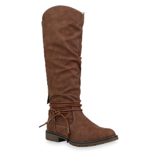 Damen Stiefel Bikerstiefel Warm Gefütterte Winter Slouch Boots 899444 Top