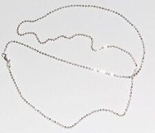 925 Silber Halskette - Kugelkette Ø 1,8 mm, Länge: 55 cm - Beste Preis - TOP