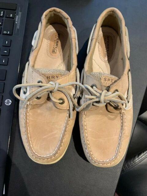 Bluefish Boat Shoe 8 Linen Oat