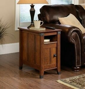 mission bedside table side tables for small spaces with storage wood stand sofa ebay. Black Bedroom Furniture Sets. Home Design Ideas