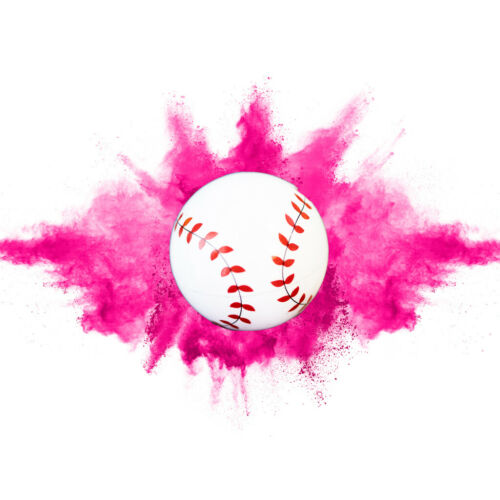 Gender Reveal Baseball 2 PackPink /& Blue SetExploding Powder Baseballs