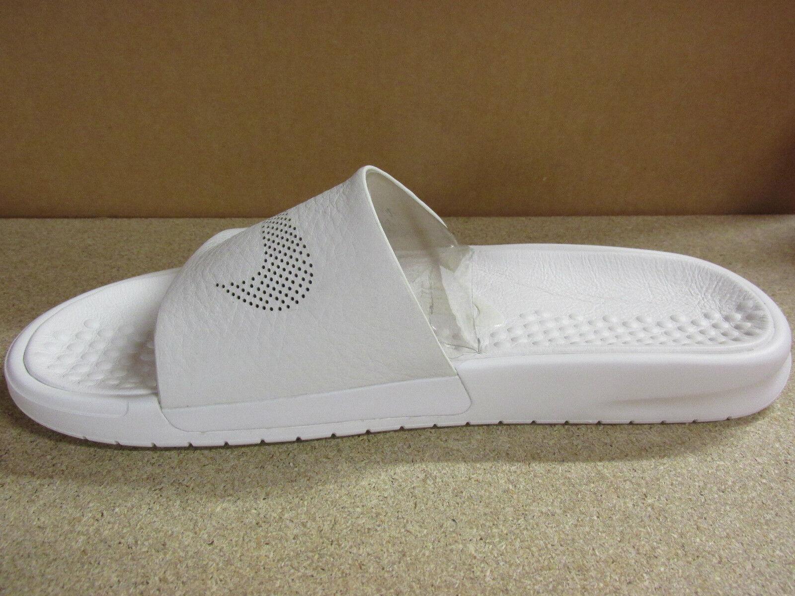Nike NikeLab Benassi Mens Slide Lux - Size 9 Triple White 818742 100 for  sale online  398556c0d
