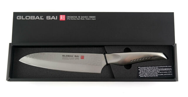 GLOBAL SAI CROMOVA 18 SANSO -  SAI-01 Kochmesser 19cm Klinge - Made in Japan