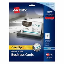 Avery Two Side Printable Clean Edge Business Cards For Inkjet Printers White