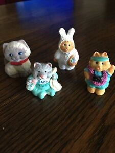 vintage EASTER hallmark merry miniatures 4 Cats And Kittens