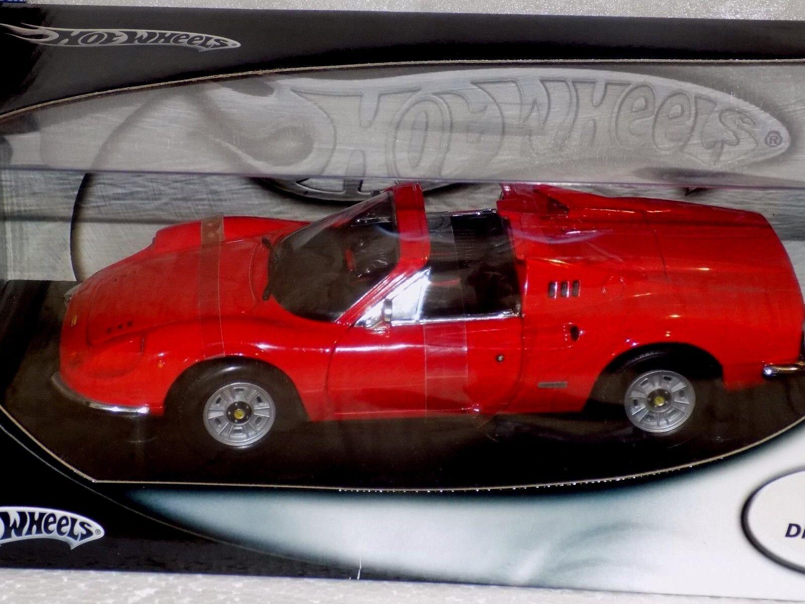 Ferrari Dino 246 GTS rosso Hotwheels 54601 1 18