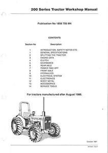 Massey Ferguson Tractor 230 231 231s 240 240s 241 243 253 261 263 Service Manual Ebay