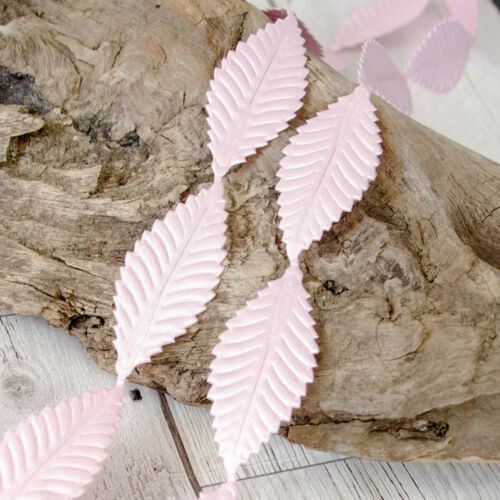 1 YARD Satin Ribbon Leaf Leaves trim trimming CRAFTS lace Embellishment Wedding