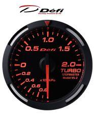 Defi Racer 60mm Car Boost 2 Bar Gauge - Red