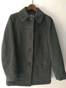 Bean entièrement mélange Thinsulate doublé taille boutonné en Ll laine gris de Manteau Womens petite xTUwq48