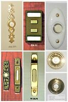 Nutone Door Push Button Lighted Brass, Ceramic, Duo Pb-28,31,34,35,36,37,38,39