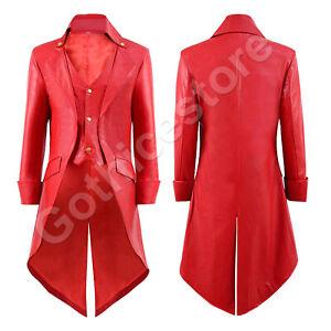 De Costume Steampunk Victorien Hommes Gothique Special Party Coat Cuir Tailcoat Faux qtRwdadE