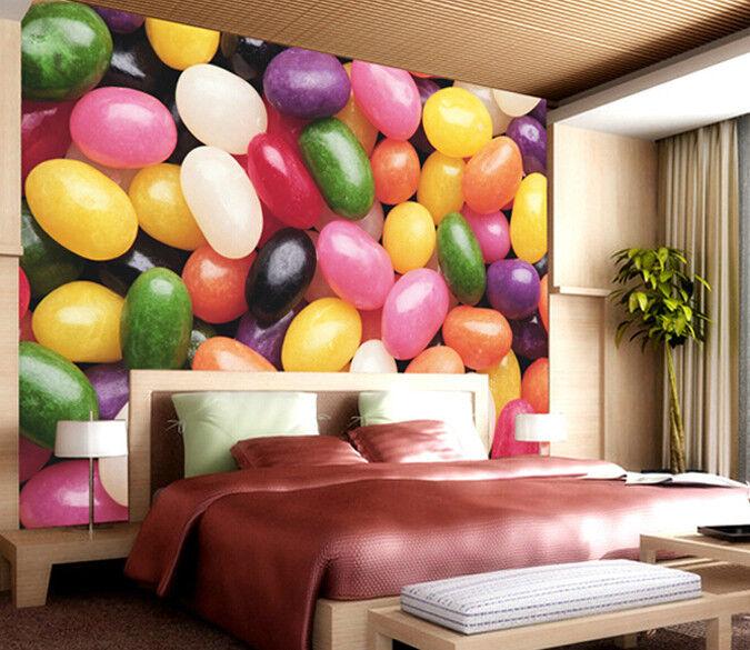 3D Farbe Süßigkeiten 73 Tapete Wandgemälde Tapete Tapeten Bild Familie DE Summer | Erste Klasse in seiner Klasse  | Smart  |