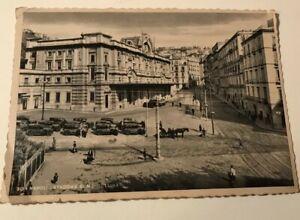 Naples-Railway-Station-Napoli-Stazione-Di-Mergellina-Italy-Postcard-Vintage