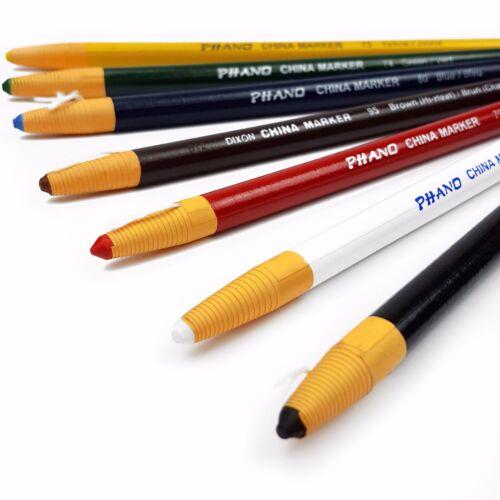 Conjunto de 7 marcador de China Chinagraph Lápiz-No Tóxico 1 de cada color