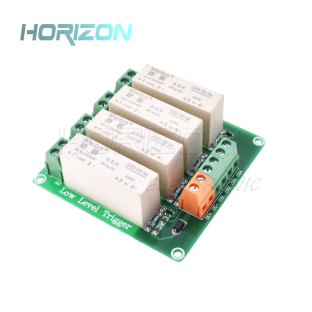 4 Channel SSR Solid State Relay low Trigger 5A 0-2V DC-DC Arduino Uno R3 NEW