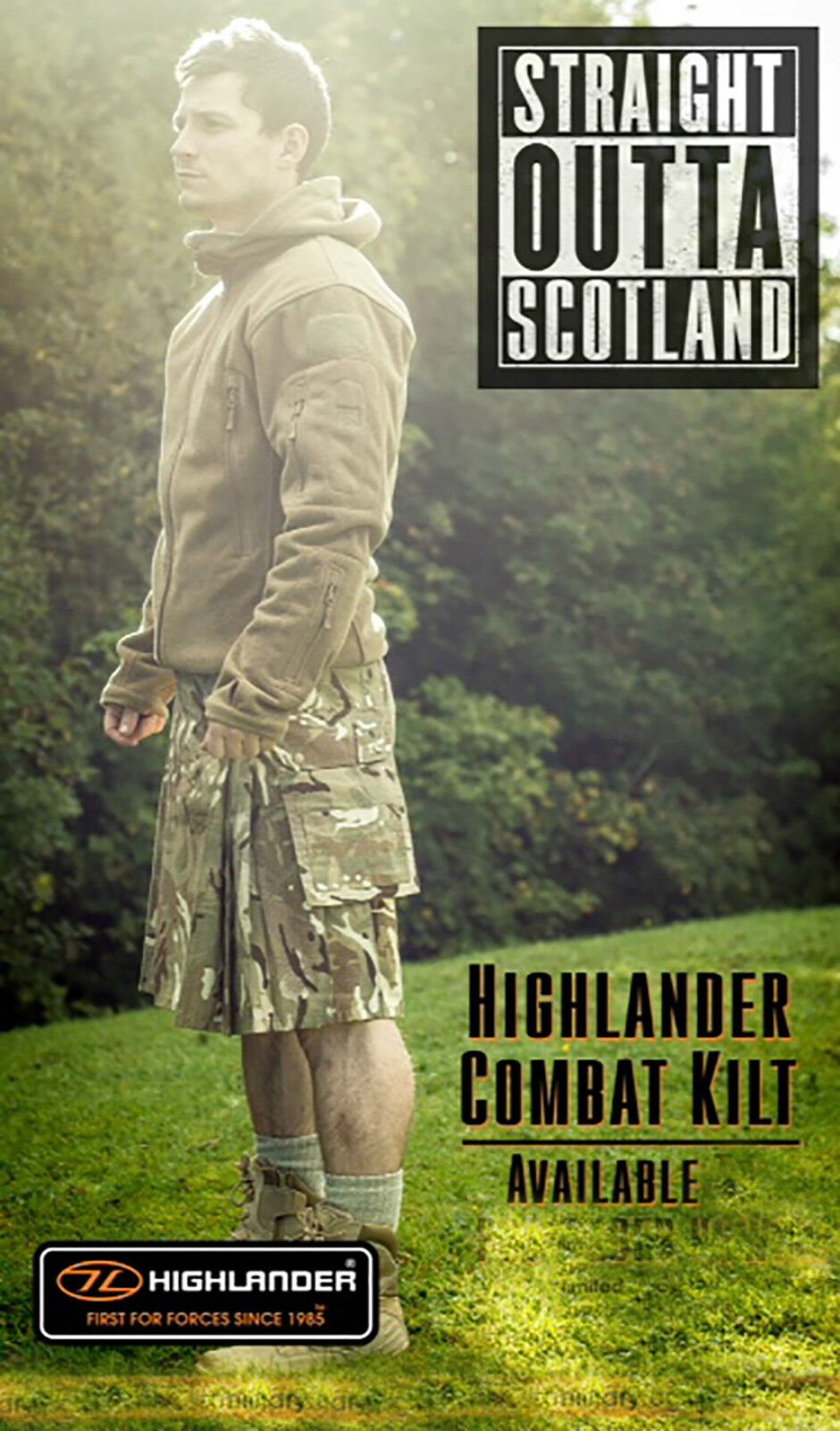 New Highlander Black / MTP / Multicam Match Combat Kilt - Tactical Combat Kilt